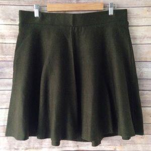 Torrid Plus Size Army Green Sweater Skirt 1X